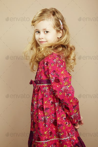 Portrait of pretty little girl