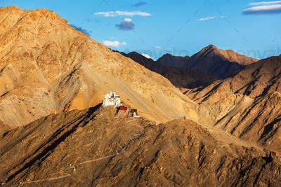 Namgyal Tsemo gompa and fort. Ladakh, India