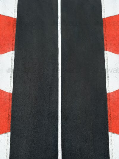 Texture of motor race asphalt and curb Grand Prix track