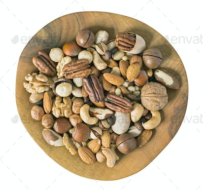 Nuts above isolated