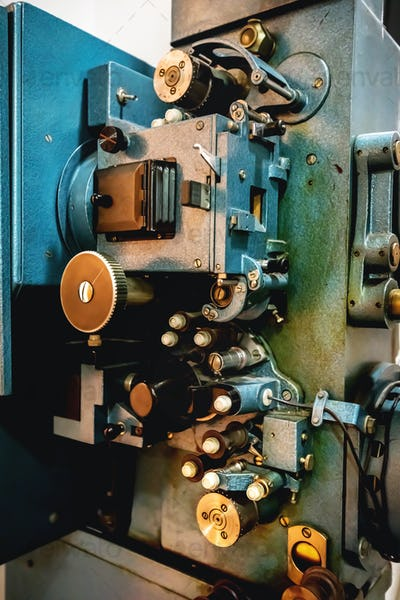 Old cinematographic analogue machinery