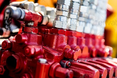 Industrial metal parts. Railway industry