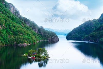 Breathtaking view of small island