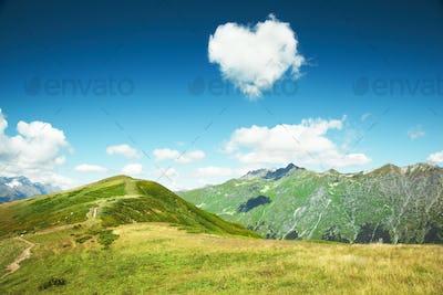 Caucasus mountains. Abkhazia