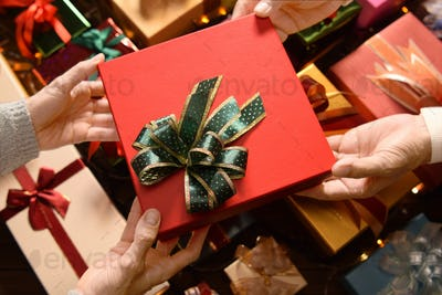 People giving presents