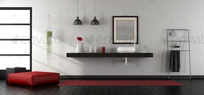 Mininalist bathroom wit washbasin