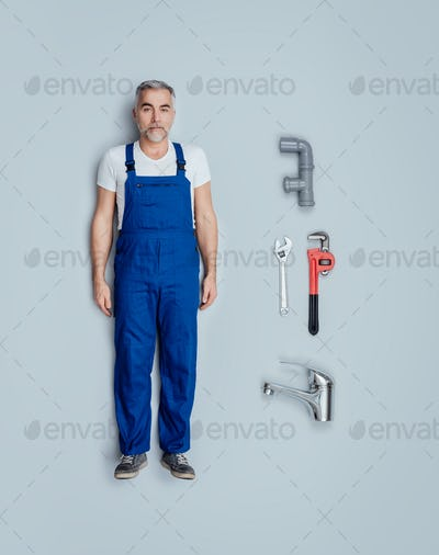 Realistic plumber doll