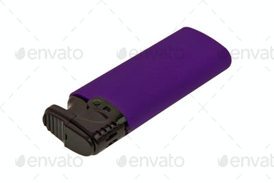 Violet lighther on a white background