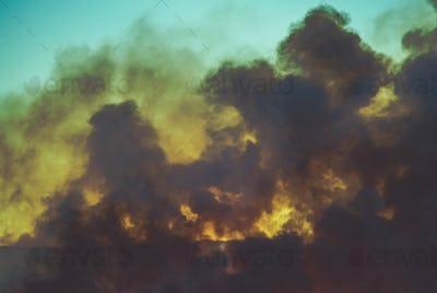 Smoke From Burning Meadow