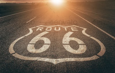 Famous Highway 66 California