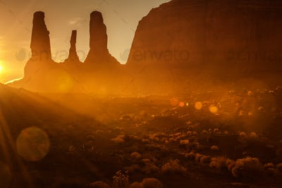 Scenic Monument Valley Sunset