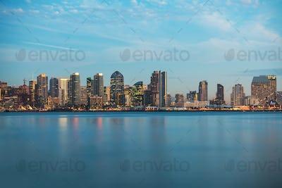 Skyline of San Diego California