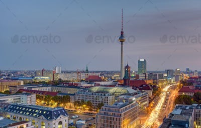 Dawn over central Berlin