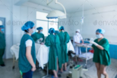 blur operating room background