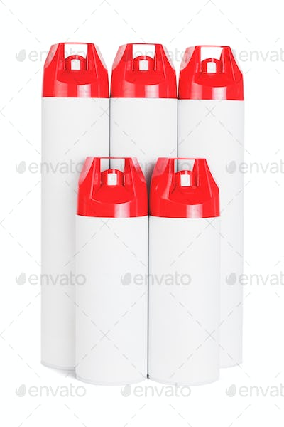 Red Spray Cans