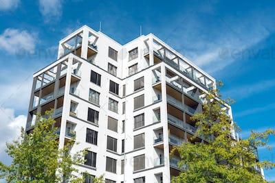 Big modern apartment house in Berlin