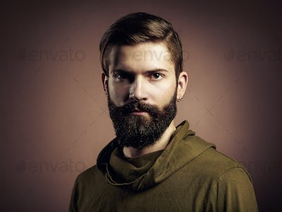 Portrait of handsome man with beard