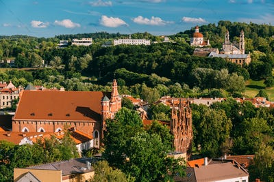 Vilnius, Lithuania. View Of Church Of St. Anne, Church of St. Fr