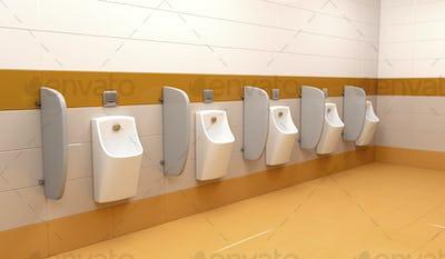 Row of urinals