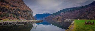 Stunning scenery of norwegian fiord