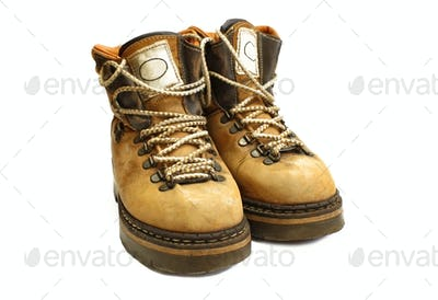 old yellow boots