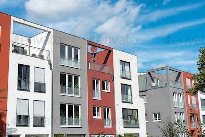 Modern serial townhouses in Berlin