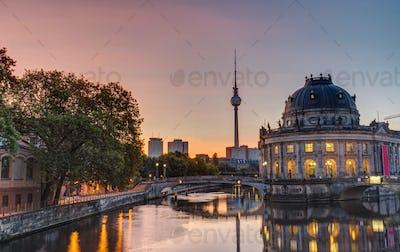 Beautiful sunrise at the Museum Island in Berlin