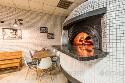 Traditional woodfired pizza oven