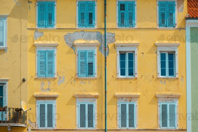 Typical mediterranean facade architecture style