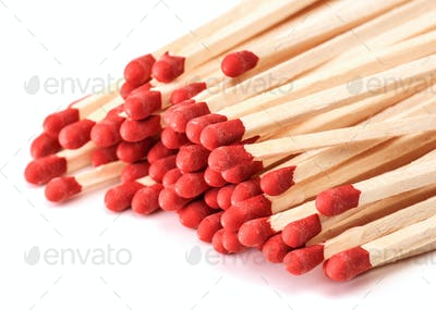 making approach unused wooden matches