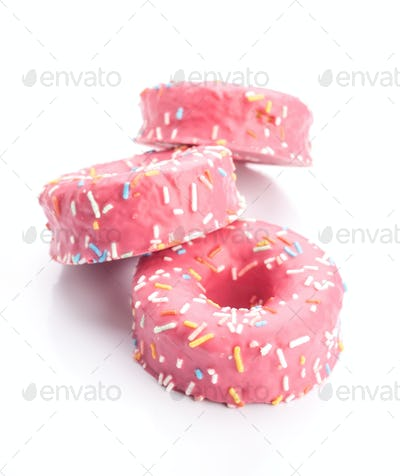 donut strawberry glaze