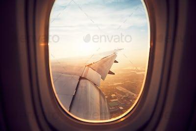 Landing at the sunrise
