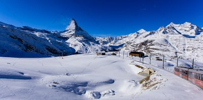 The Matterhorn and a train.
