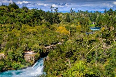 Huka Falls and Waikato River