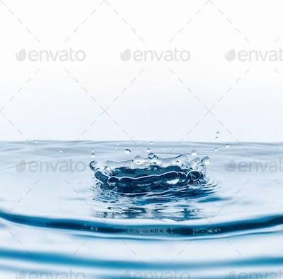 water drops falling