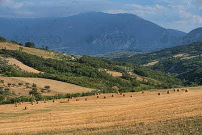 Summer landscape in Abruzzi near Pietranico