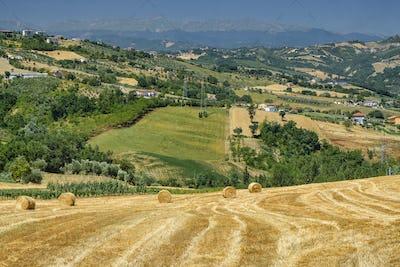 Landscape near Teramo (Abruzzi) at summer