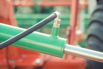 Detail of pneumatic or hydraulic machinery, technology and engineering