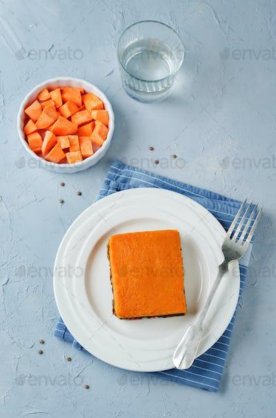 Vegan sweet potato Shepherd's pie