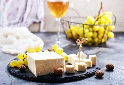 wine,grape and cheese