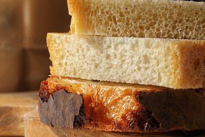fresh delicious slices of wheat bread