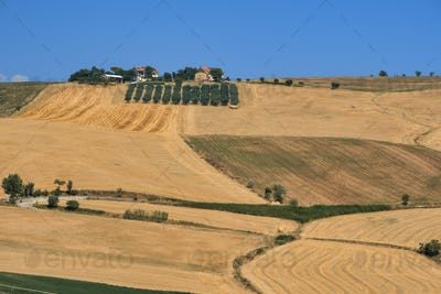 Landscape near Loreto Aprutino (Abruzzi) at summer