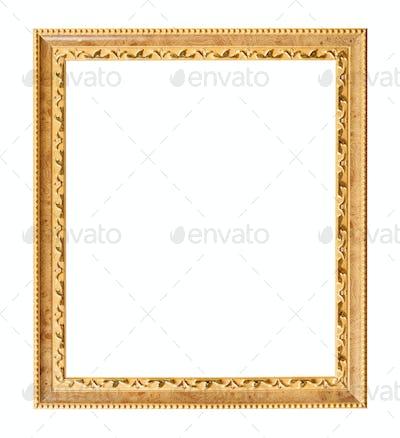 vertical carved golden wooden picture frame