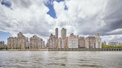 Manhattan Midtown waterfront, New York, USA