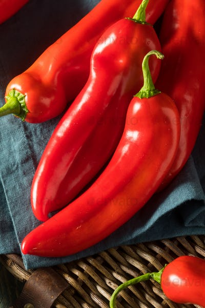 Raw Organic Sweet Red Ancient Peppers