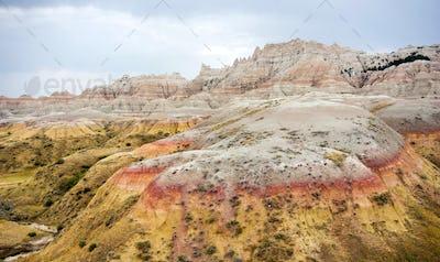 Rock Formations Badlands National Park Rural South Dakota