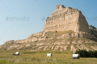 Scotts Bluff Oregon Trail Nebraska Butte Bluff Rural Country