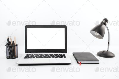 working space on white background
