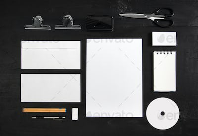 stationary mock up for identity design template