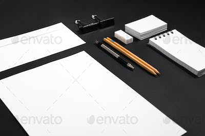 identity design template. Stationary mock up